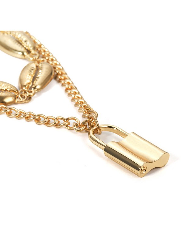 Lock E-Plating Pendant Female Necklaces