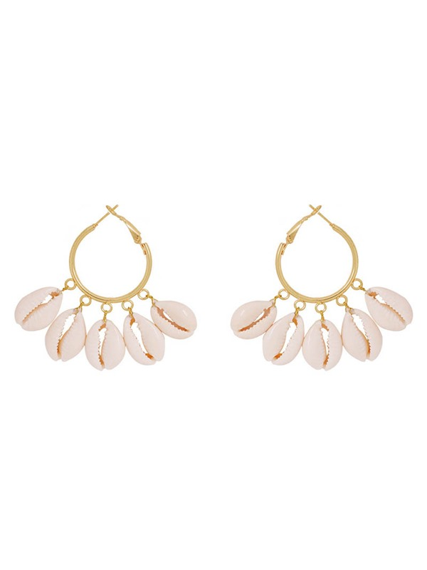 E-Plating Colour Conch Alloy Holiday Earrings