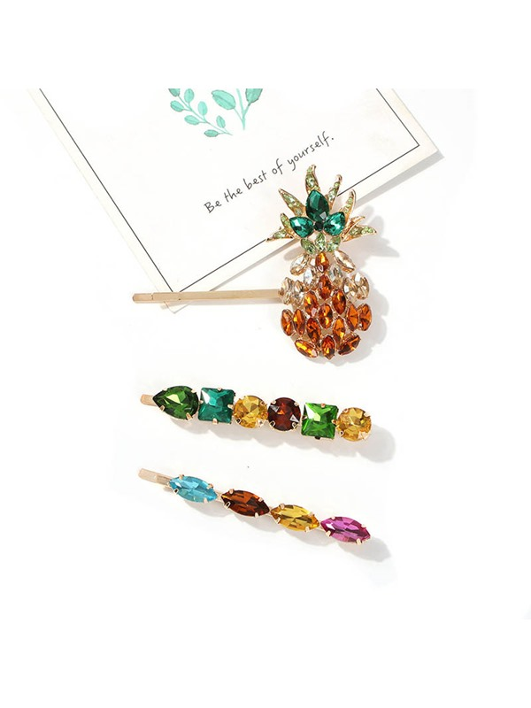Hairpin Sweet Crystal Inlaid Fruit Hair Accessories