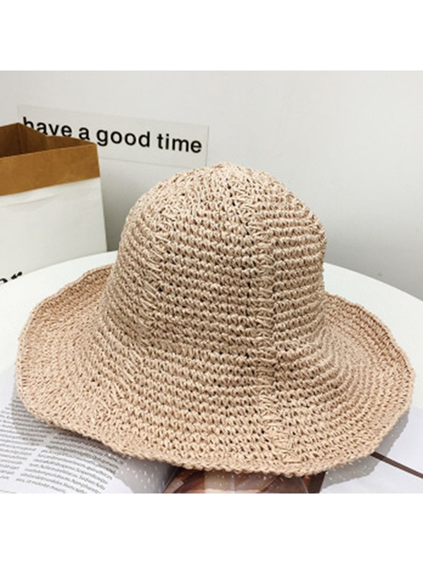 Straw Hat Sweet Straw Plaited Article Fall Hat For Women
