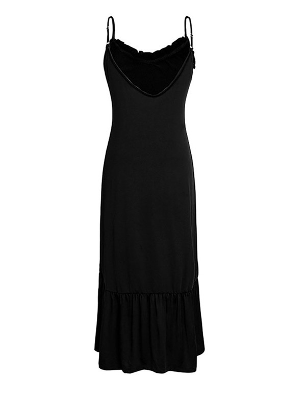 Ankle-Length Sleeveless Backless Plain Pullover Women's Dress