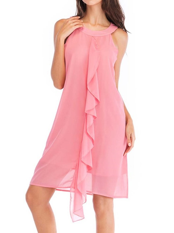 Above Knee Stringy Selvedge Casual Mid Waist Women's Dress