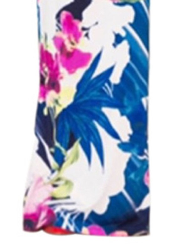 Full Length Plus Size Floral Slim Women's Jumpsuit