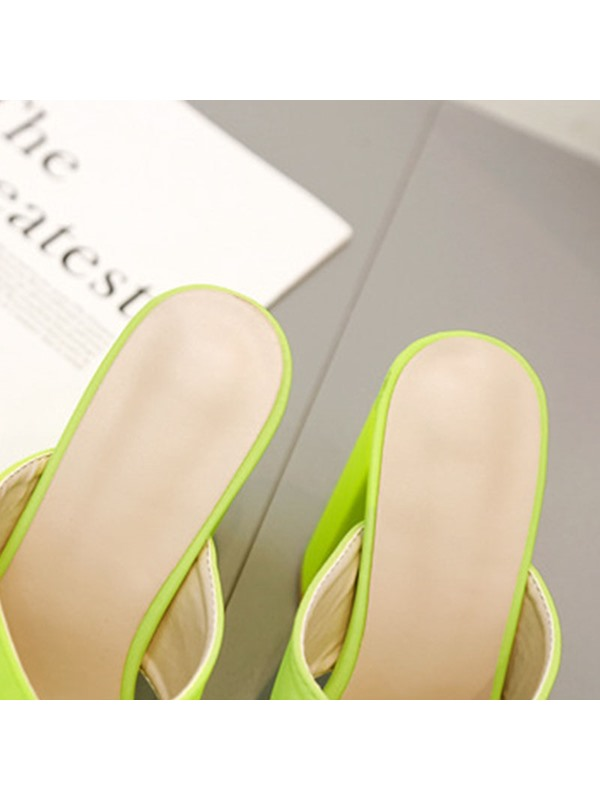 Neon Slip-On Cross Summer Women's Slippers