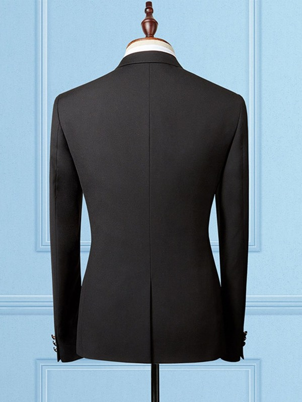 Plain One Button Formal Men's Blazer