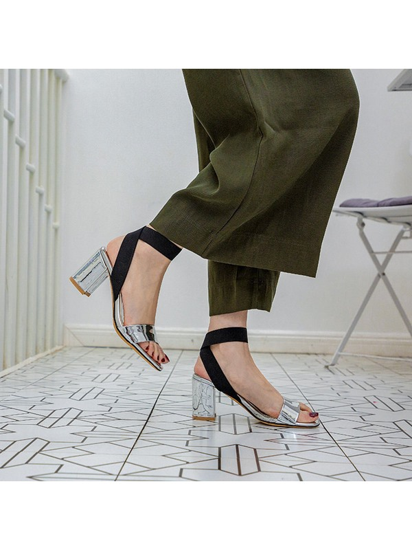 Elastic Band Ankle Strap Open Toe Casual Women's Sandals