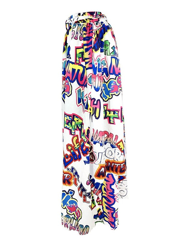 A-Line Ankle-Length Print Office Lady Women's Skirt