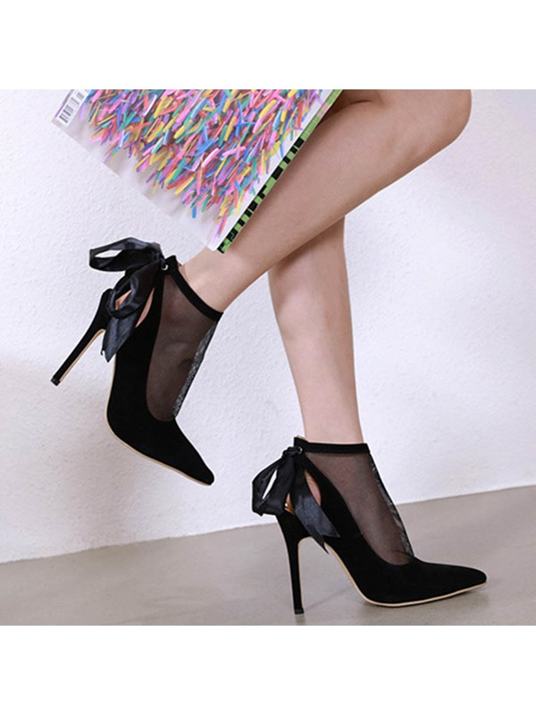 Stiletto Heel Pointed Toe Lace-Up Sexy Women's Sandals