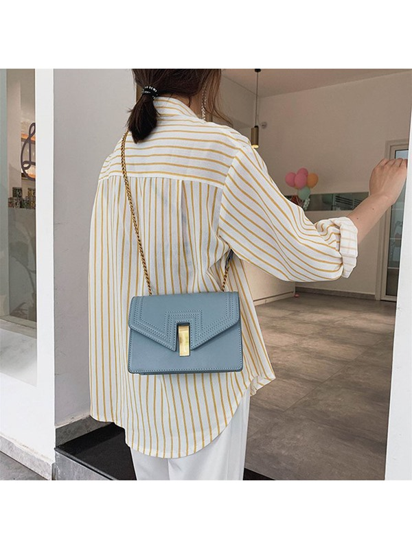 Plain Thread Square Crossbody Bag