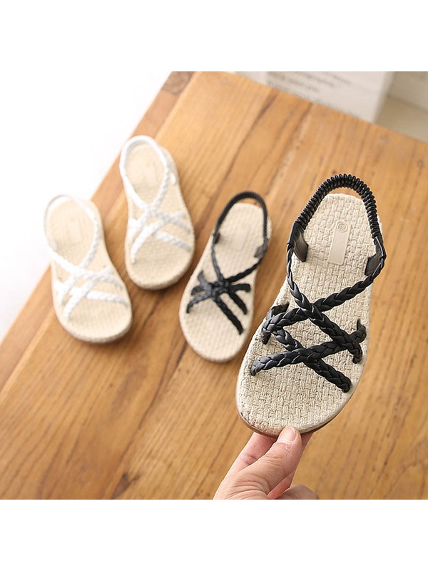 Open Toe Korean Low-Cut Upper Kid's Sandals