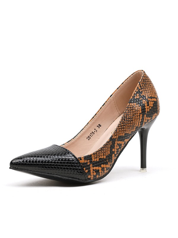 Serpentine Slip-On Stiletto Heel Western Women's Pumps