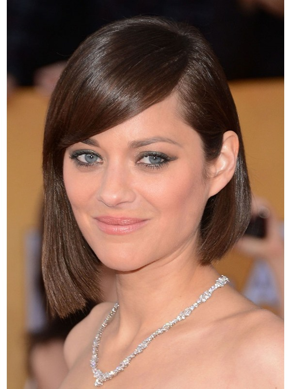 Women's Straight Medium Bob HairStyles 120% Density Capless Synthetic Hair Wigs 16Inches