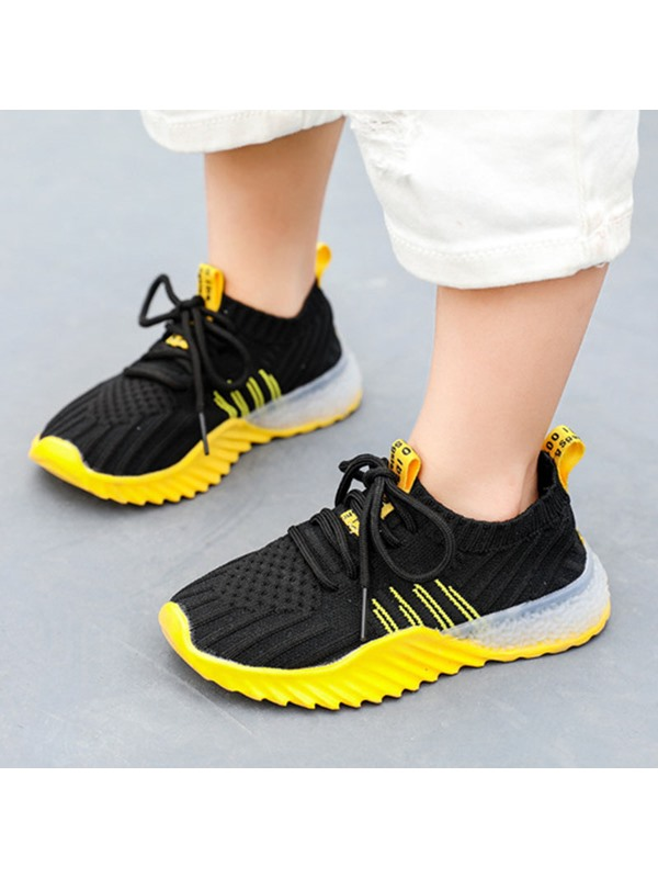Round Toe Casual Plain Kid's Sneakers