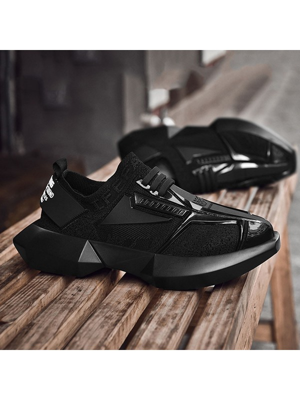 Low-Cut Upper Lace-Up Round Toe Chic Men's Sneakers
