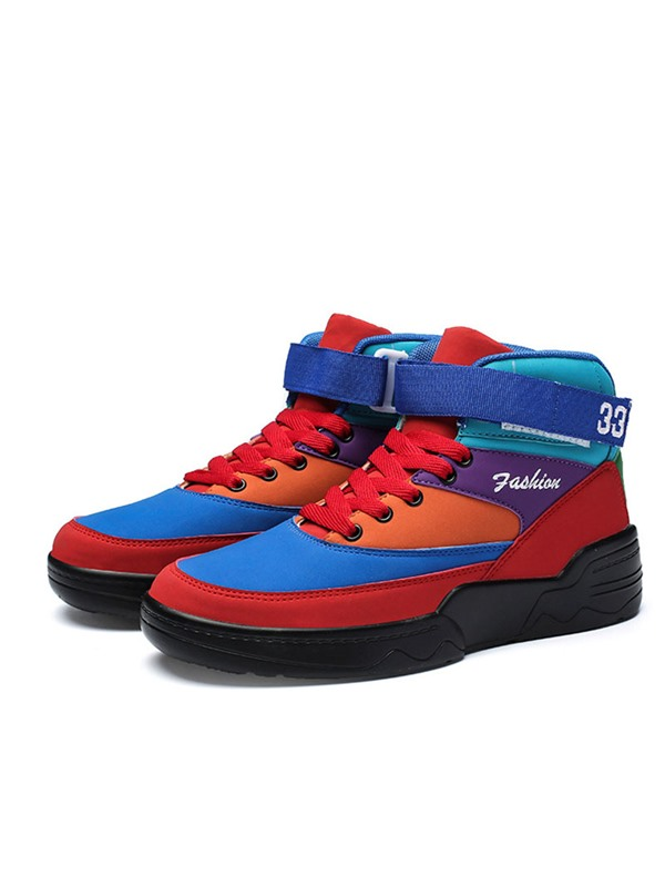 Velcro Simple High Top Men's Skate Shoes