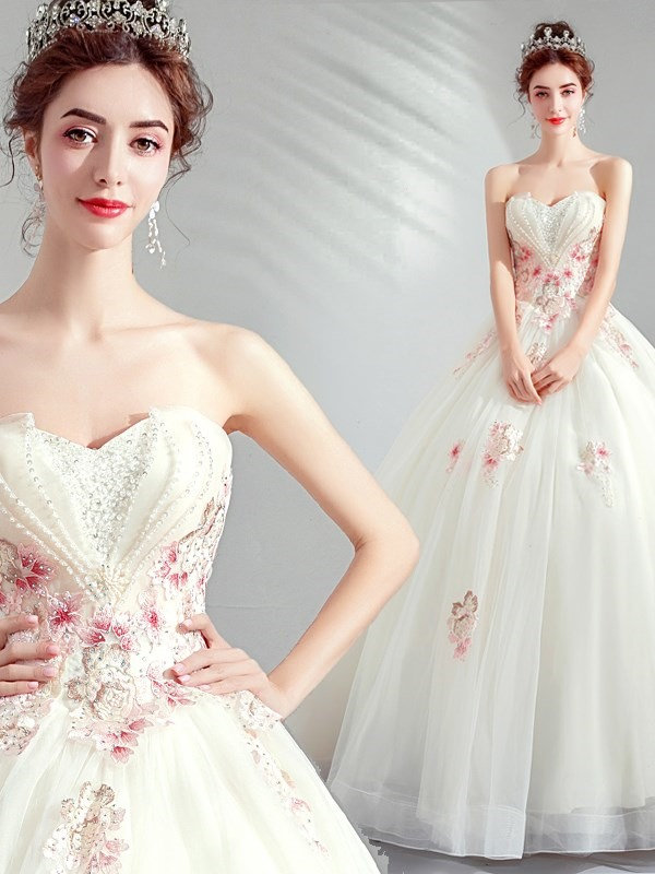 Sweetheart Beading Sleeveless Ball Gown Quinceanera Dress 2019