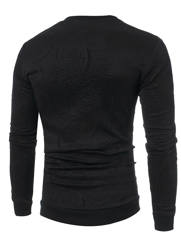 Plain Round Neck Pullover Casual Men's Hoodie