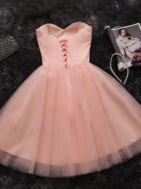 Knee-Length Sleeveless Beading A-Line Homecoming Dress 2019