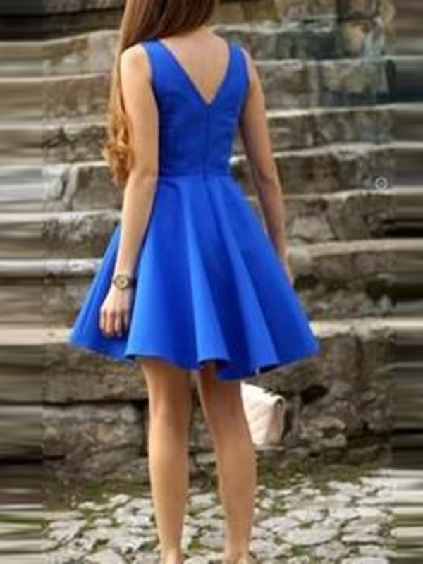 V-Neck Sleeveless A-Line Short Homecoming Dress 2019