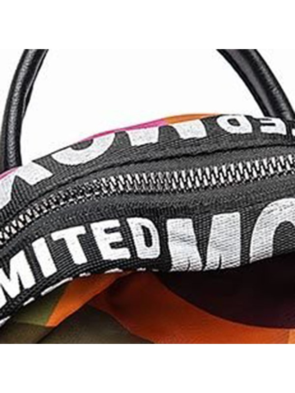 Oxford Pure Color Thread Letter Backpack