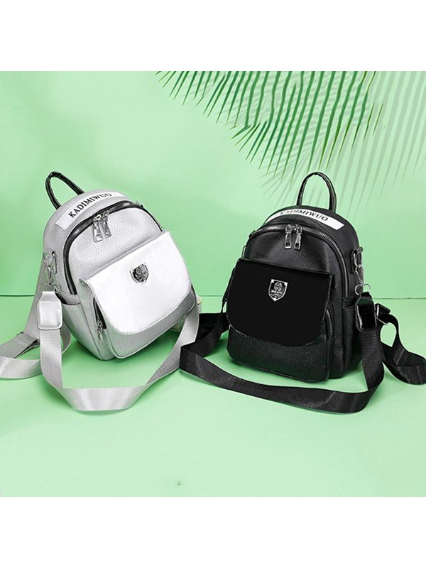 PU Thread Letter Backpack