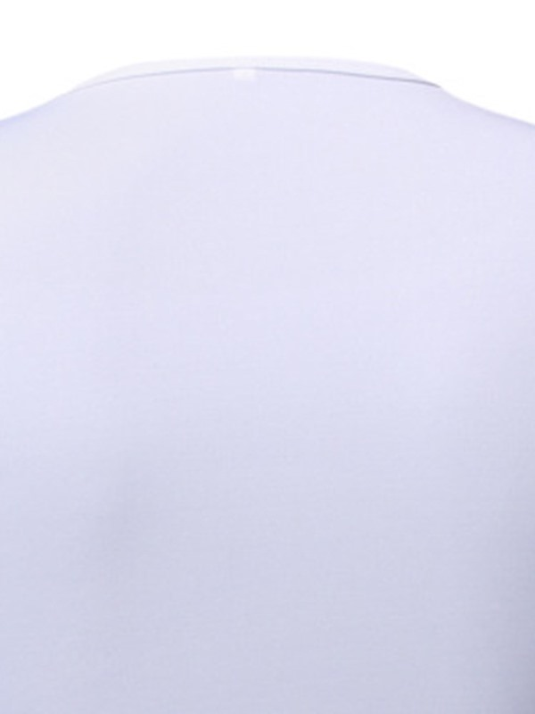 Round Neck Plain Embroidery Casual Short Sleeve Men's T-Shirt
