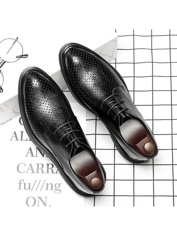 Lace-Up Pointed Toe England Men's Shoes