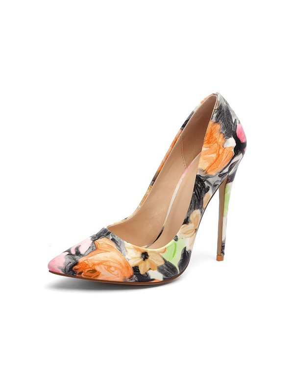 Slip-On Pointed Toe Floral Women's Pumps