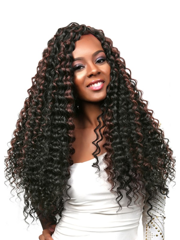 Long Length Women's 100% Virgin Human Hair Wigs Kinky Curly Lace Front Wigs 26Inches