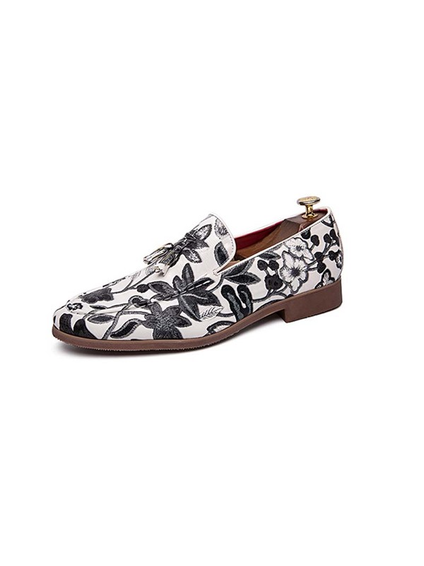 Slip-On Floral Printed Men's Prom Shoes