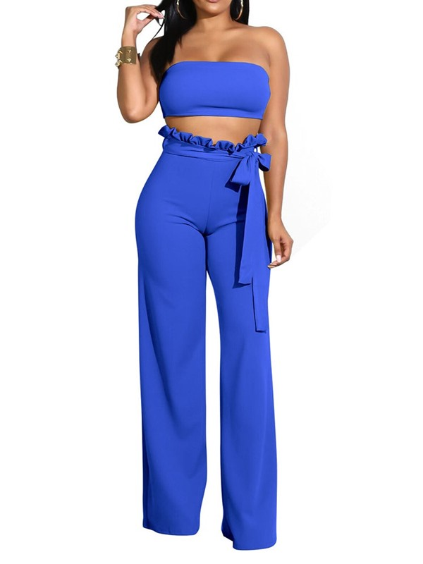 Party/Cocktail Stringy Selvedge Plain Straight Pullover Women's Two Piece Sets