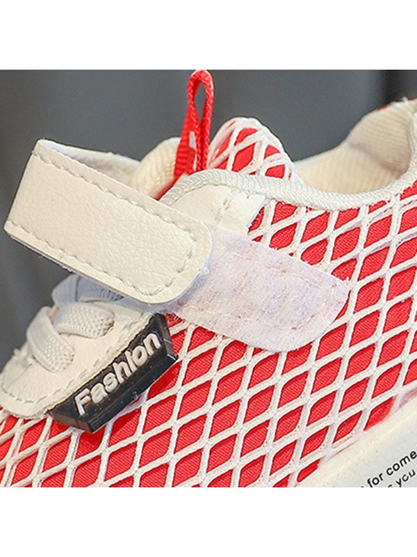 Plaid Lace-Up Mesh Kid's Sneakers