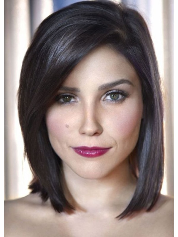 Medium Bob Hairstyles Women's Straight Synthetic Hair Capless Wigs 16 Inches