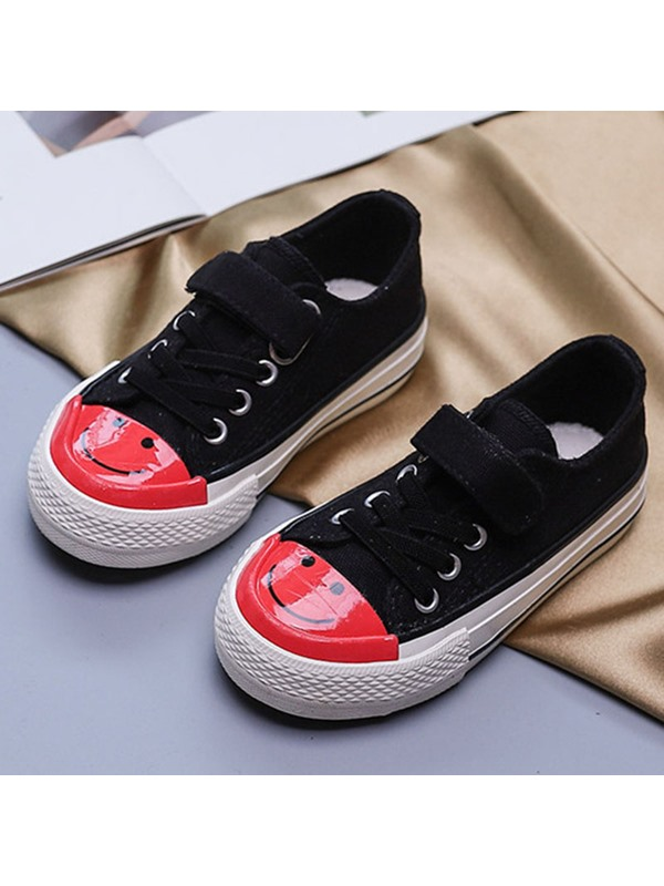 Lace-Up Patchwork Korean Kid's Sneakers
