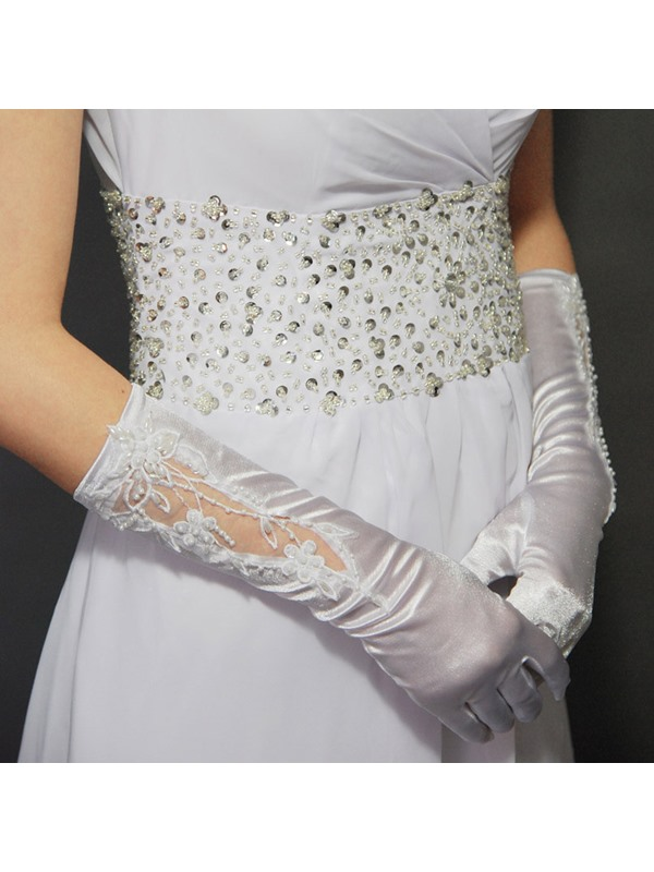 Elastic Wedding/ Special Occasion Full Gloves