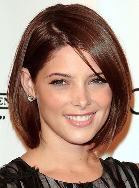 Ashley Greene Style Elegant Medium Straight Lace Wig about 12 Inches(Free Shipping)