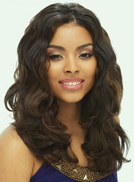 Custom Beautiful Long Wavy Lace Front Wig 16 Inches