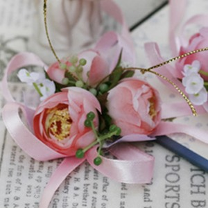 Amazing Pastel Pink Silk Cloth Flower Wedding Bridal Wrist Corsage