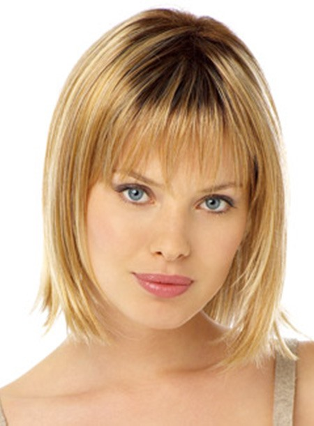 Soft Charming Popular Medium Wig 100% Human Hair about 10 Inches(Free Shipping)