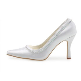 High Quality Upper High Heel Pumps With Rhinestone Prom Shoes