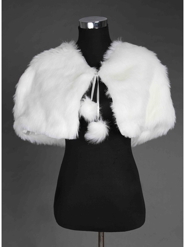 New Style Sleeveless Faux Fur Wedding Shawl