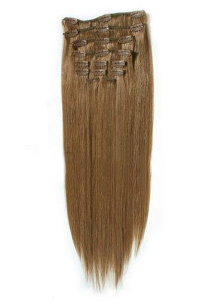 Clip in Straight Hair Extension 100%Human Hair(Free Shipping)
