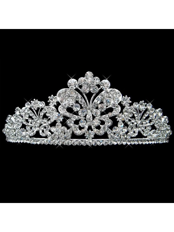 Pretty Shiny Rhinestone with Alloy Bridal Tiara