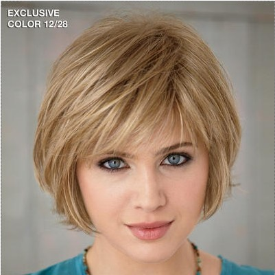 Custom Short Straight 100% Human Hair Wig about 8 Inches(Free Shipping)