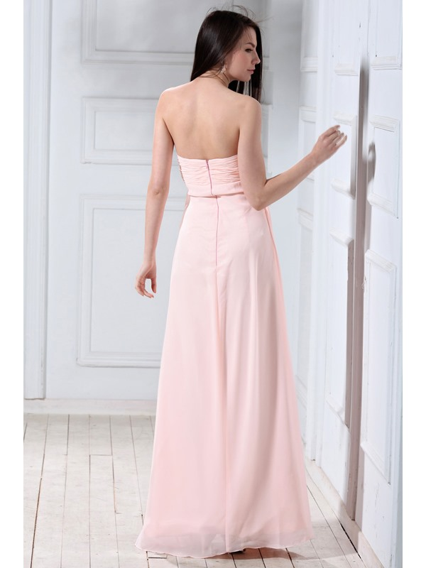 Glamorous A-line Sweetheart Empire Waist Floor-length Luba's Bridesmaid Dress