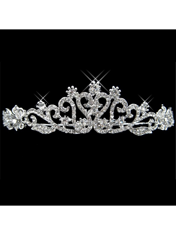 Simple Style Alloy with Rhinestone Wedding Bridal Tiara