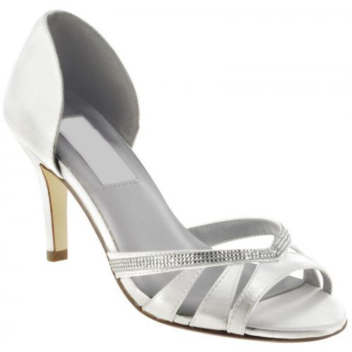 Leatherette Upper Stiletto Heel Peep-toes With Rhinestone Wedding Bridal Shoes
