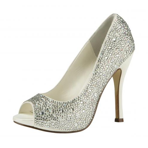 Sparkling Glitter Upper Stiletto Heel Peep-toes Wedding/Prom Shoes
