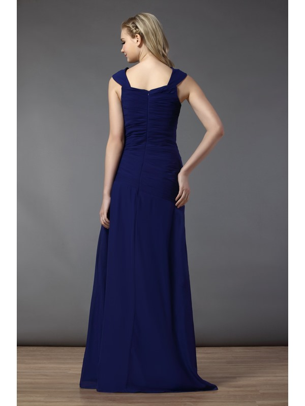 Gogerous A-line Bowknot Strapless Floor-Length Bridesmaid Dress