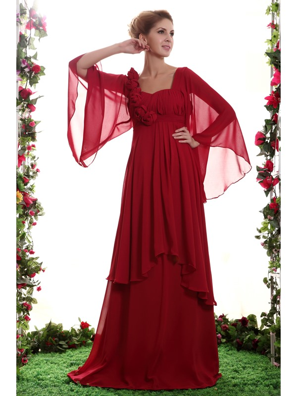 Elegant Flowers Tiered Column Floor-Length Sweetheart Neckline Nastya's Mother of the Bride Dress